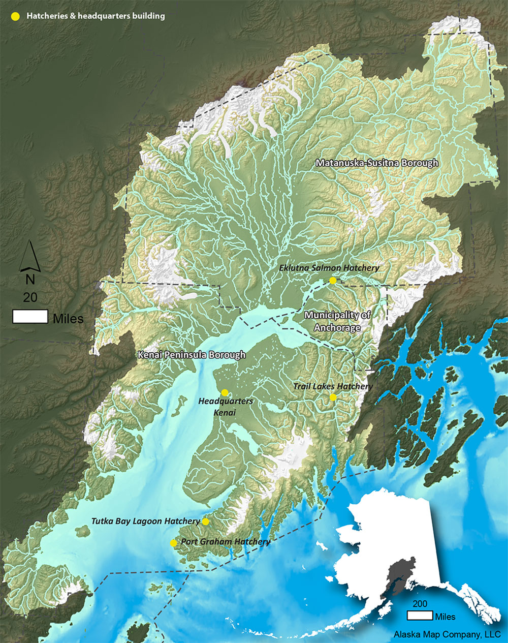 Cook Inlet map
